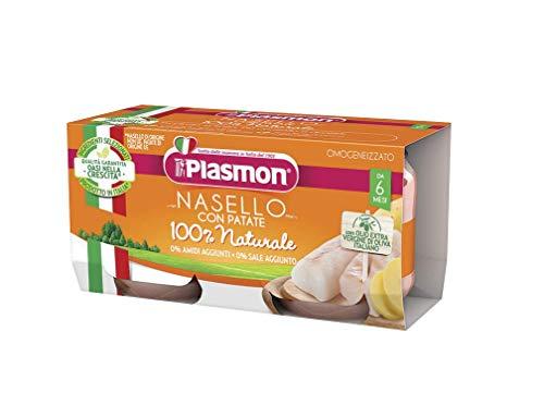 6x PLASMON Nasello con patate homogenisiert Babynahrung 80g ab 6 Monaten 480gr