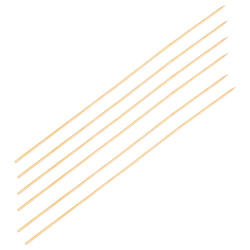 BESTonZON 540 Stks Bamboestokken 35 Cm Houten Spiesjes Sticks Extra Lange Sterke Voor BBQ Barbecue Kebab Marshmallow Roosteren Chocolade Fontein Kampvuur Fondue
