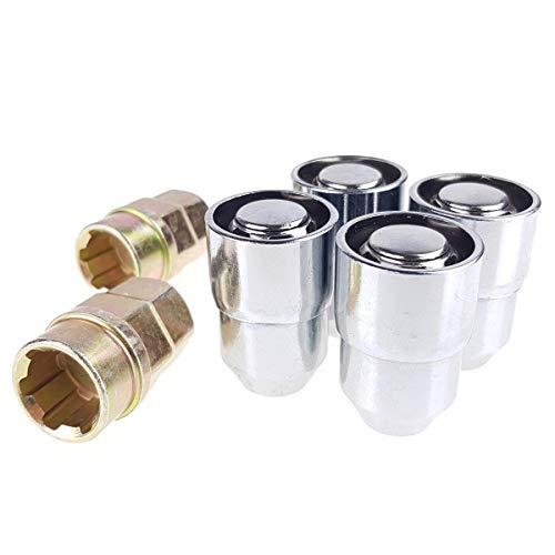 C CARBONADO Felgenschloss 4x Radmuttern M12x1,25 39mm Geschlossen SET Kompatibel mit Infiniti Nissan Suzuki