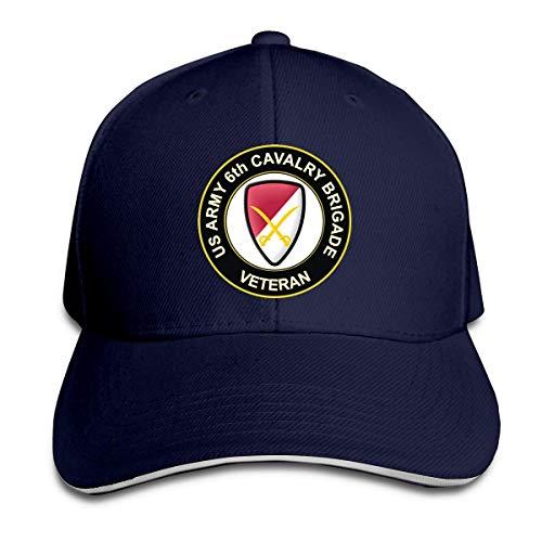 wonzhrui US-Armee 6. Kavallerie Brigade Veteran Herren Casquette Hut