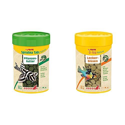 sera Spirulina Tabs Nature 100 ml & O-Nip Nature 100 ml