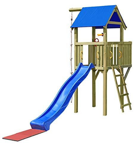 Gartenpirat Spielturm Eroberer 118x118x350 cm mit Rutsche 300 cm
