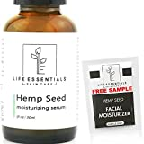 Life Essentials Hemp Seed Oil for Skin Care - 1 Fl Oz- Moisturizer and Facial Serum with Pure Hemp Seed Oil- Reduce Fine Lines, Wrinkles, and Acne - Soothes Inflammation and Moderates Oil Production