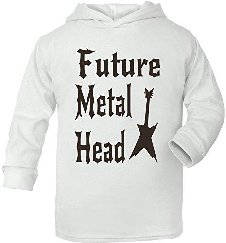 Future Metal Head Sweat à capuche pour bébé - Blanc - 6 mois