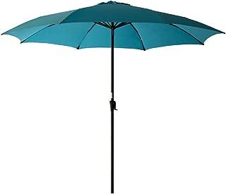 C-Hopetree 11' Outdoor Market Umbrella with Aluminum Pole for Large Outside Patio Table Poolside Deck Balcony or Terrace, Aqua Blue