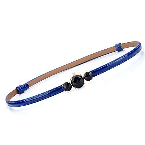 SHXJQ Cinturón Fino, Señoras, Moda, Decoración, Simple, Versátil, Charol, Cinturón Fino, Cadena...