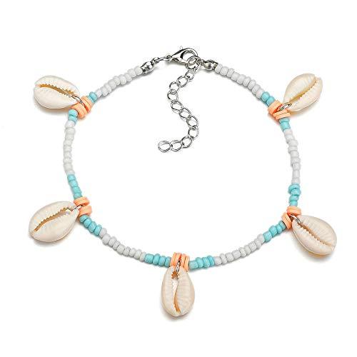 MOAOJD Sieraden kleur rijst kralen enkelband retro natuurlijke shell enkelband