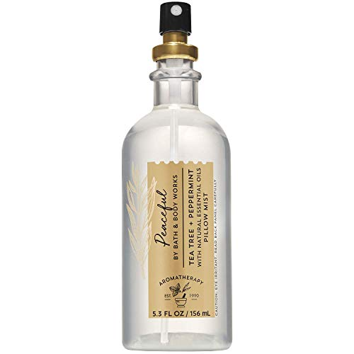 Bath and Body Works Aromatherapy Peaceful Tea Tree Peppermint Pillow Mist 5.3 Ounce