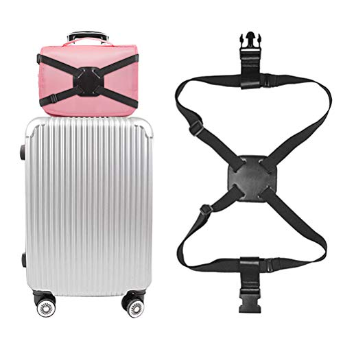 LifeBest Luggage Strap Suitcase Adjustable Elastic Belt Bag Bungees with Buckles Heavy Duty Luggage Straps for Suitcases Packing Belts Travel Accessories Adjustable Bag Strap