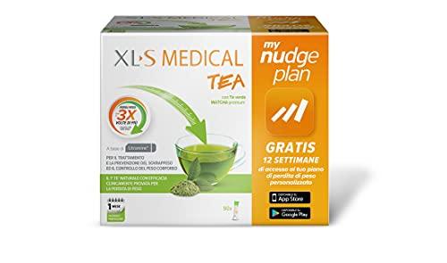 XL-S Medical Tea - Tè Dimagrante Premium - Estratto di Tè Matcha per la perdita di peso in 12 Settimane - App My Nudge Plan inclusa - 30 Giorni di Trattamento - 90 Bustine