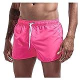 YZRDY TRANSPLETLE Quick Dress Hombres Casos Casos Casual PORTALLES TRUNes de natación de Verano Correa Ajustable Boxer Skets Fútbol Tenis Entrenamiento Corto Soft (Color : Rose Red, Size : S.)