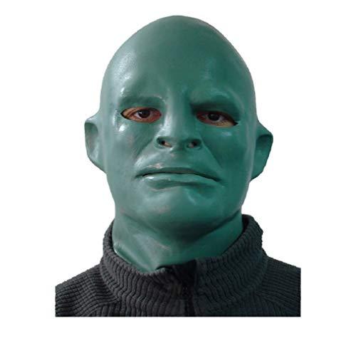 HYTMASK Realistisches Partykleid Deluxe Latex Fantomas Maske für Halloween Party Karneval Fasching Requisiten