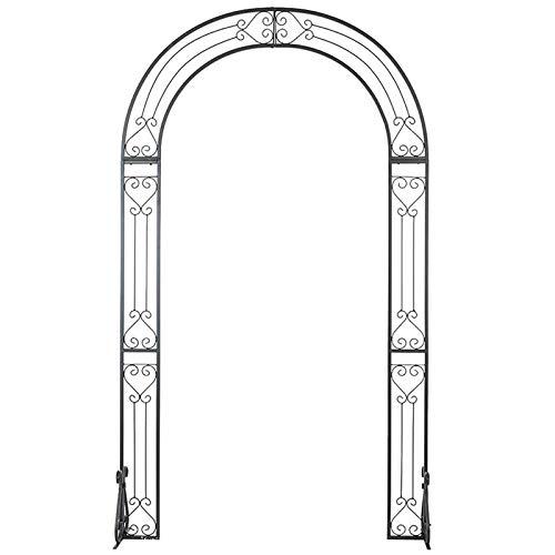 Soporte de Arco para Bodas con Bases, Pabellón de Pérgola de Metal / 240x137cm / Vintage Black