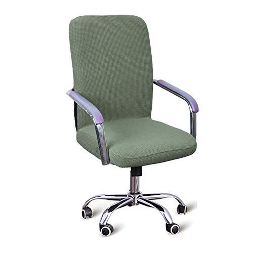 9 kleuren moderne waterdichte spandex computer stoel hoes 100% polyester elastische stof bureaustoel hoes gemakkelijk wasbaar verwijderbaar, groen, CHINA