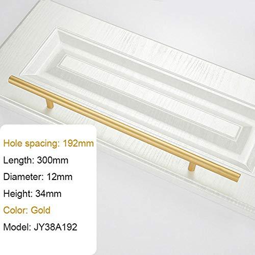 Fijnere grote handgreep moderne minimalistische keukenmeubelen kabinet lade trekken goud aluminium garderobe nachtkastje Locker knop, goud CC 192mm