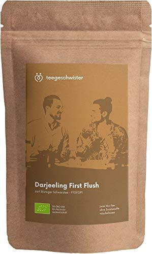 teegeschwister® | BIO Schwarzer Tee Darjeeling First Flush FTGFOP1 | loser premium Schwarztee aus dem Himalaya | ganze Blätter | ohne zugesetzte Aromastoffe