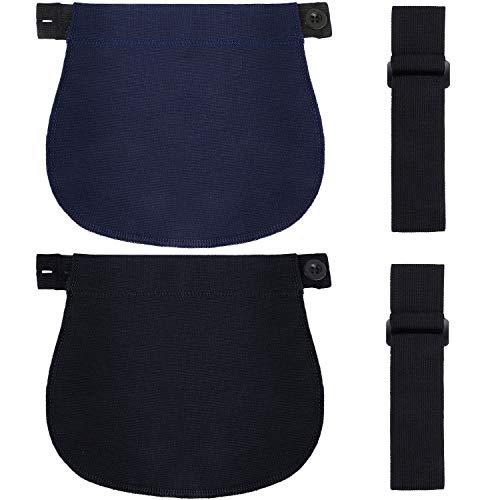 WILLBOND 4 Packung Mutterschaft Hose Erweiterung Kit Verstellbarer Bund Extender Schwangerschaft Hose Erweiterung Elastisch Knopf Bauchband für Schwangerschaft Kleidung Mutterschaft Jeans