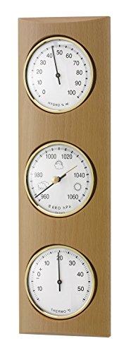 TFA 20.1028.05 Domatic - Estación meteorológica analógica de madera de haya, color natural