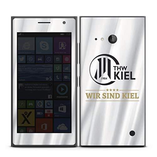 DeinDesign Folie kompatibel mit Nokia Lumia 730 Aufkleber Skin aus Vinyl-Folie THW Kiel Handball Offizielles Lizenzprodukt