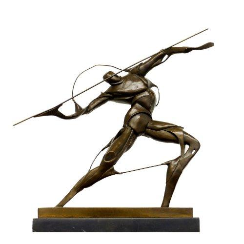 Bronzefigur im Stil des Futurismus - Kämpfer mit Speer Figur - signiert - Umberto Boccioni - Moderne Kunst Skulptur