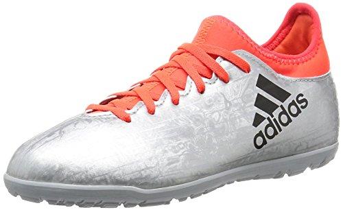 adidas Jungen X 16.3 TF J Fußballschuhe, Plata (Plamet/Negbas/Rojsol), 38 2/3 EU