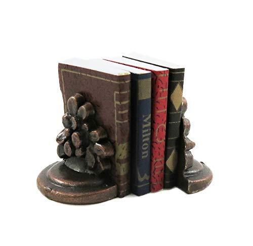 Melody Jane Casa delle Bambole Libri & Bronzo Fiore Fermalibri Ufficio Studio Libreria Accessorio