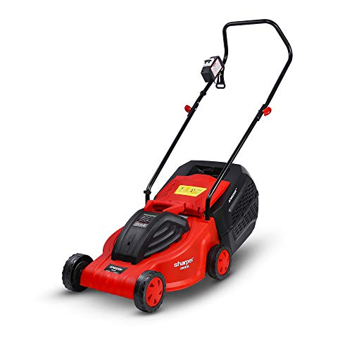 Sharpex Electric Lawn Mower | Folding Handle, 15 Mtr Cable...