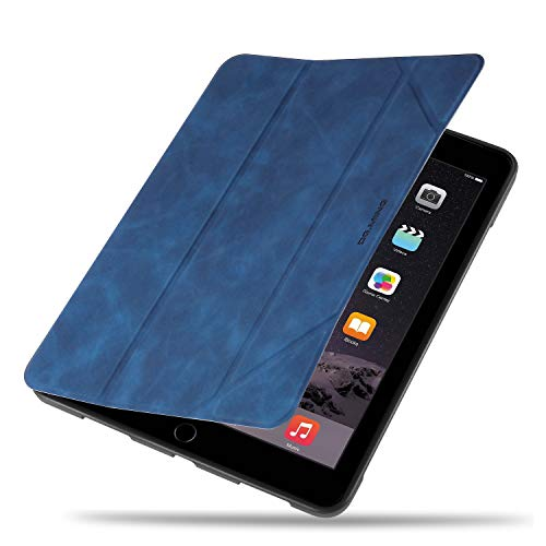 DEFBSC Case for New iPad 9.7-Inch 2018/2017/Air/Air 2,Premium PU Leather Business Slim Folding Stand Folio Cover with Auto Wake/Sleep,Pencil Holder and Multiple Viewing Angles, Blue