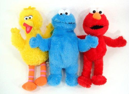 Sesame Street - Elmo and Friends 3 Piece 13' Plush Set - Includes Elmo, Cookie Monster and Big Bird