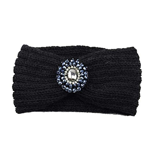 Femmes Bandeau à Tricoter Chaud Hairband Headband Bluestercool (Bleu, Taille unique)