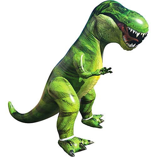 Giant T-Rex Dinosaur Inflatable for Pool Party Decorations, Birthday Party Gift for Kids and Adults (Over 5Ft. Tall)
