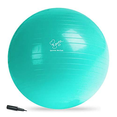 Davina McCall Exercise Ball Bola Y Bomba DE Ejercicio, Unisex Adulto, Azul, Talla única