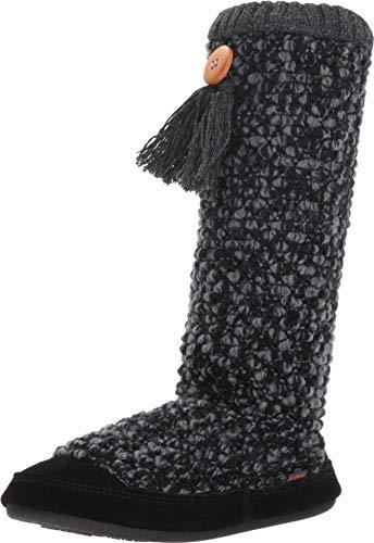 Acorn Women's Jam Tassel Boot Slippers, Boysenberry, L