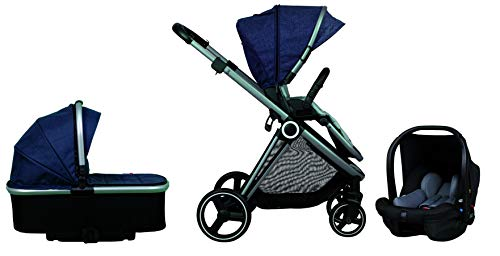 Casualplay Cochecito tres pieza Space, color navy
