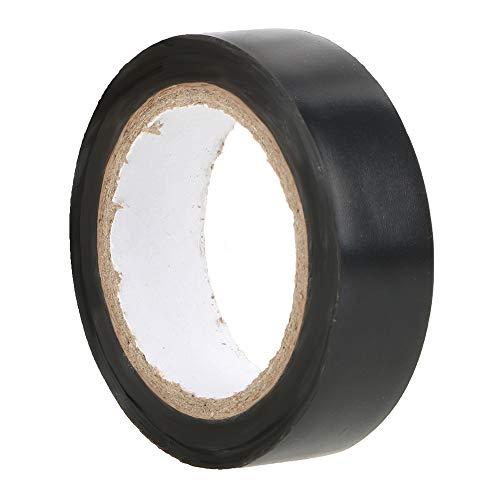 iTimo - Cinta adhesiva impermeable (16 mm x 10 m, aislante de PVC, cinta aislante de alta temperatura), negro