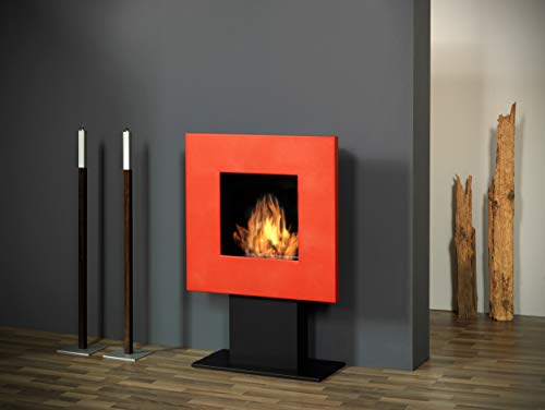 Muenkel design Square Fire 75 [vierkante bio-ethanol staande haard]: rood