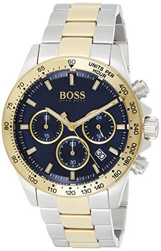 Hugo Boss Herren Chronograph Quartz Uhr mit Edelstahl Armband 1513767