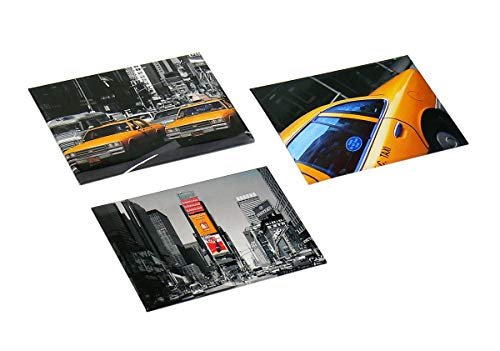 Trendfinding 3 x Magnet Set New York 3-teilig Yellow Cab