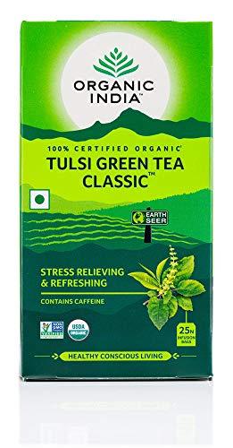 Organic India Tulsi Green Tea Classic - 25 Tea Bags