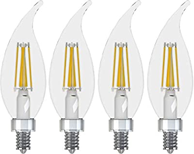 GE Lighting Dimmable Decorative Outdoor Sconce/Carriage Light, Soft White LED 3.5-watt (40-watt Replacement) with Medium Base