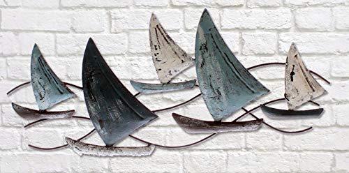 Wandobjekt Segelschiffe aus Eisen Wandbild Segelboote