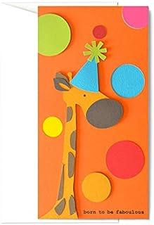 Born to be faboulous - buon compleanno - porta soldi - biglietto d'auguri (formato 21 x 11 cm) - vuoto all'interno, ideale...