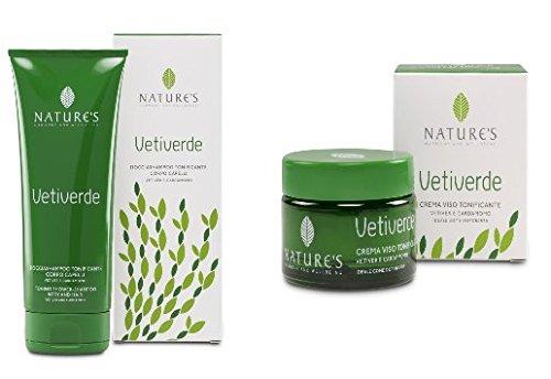 Nature's Vetiverde Doccia Shampoo Corpo Capelli 200 ml + Crema Viso Tonificante 50 ml