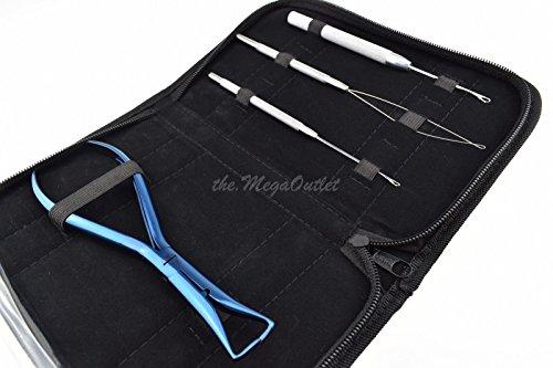 Extensions de cheveux Bleu Pince kit pour enlever les Micro anneaux et Fusion Colle Bond