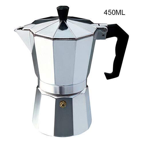 dxx Servicios de mesa Cafetera 3/6/9/12 tazas de aluminio Espresso cafetera máquina de los Crisol para el Uso en cocina de inducción 300Ml,450ml