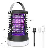 Qomolo Lampe Anti Moustique, 2 en 1 Lampe Anti Moustique et Lanterne de Camping,USB Rechargeable Portable...