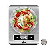 Uten Báscula Electrónica Digital(5kg, 0.1oz/1g)Balanzas de Cocina de Acero Inoxidable con...