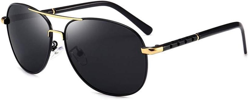 Lunettes de Soleil polarisées Hommes Sub Classique Driving Toad Miroir avec Protection UV400 et TR90 Incassable Lenses Noir A