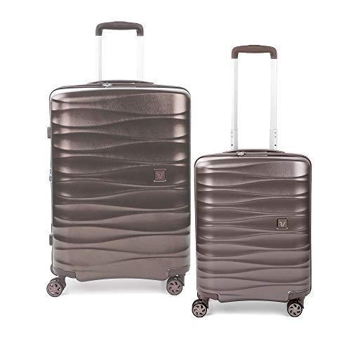 RONCATO Stellar Set 2 maletas rígidas ampliables (medio + cabina) Arena