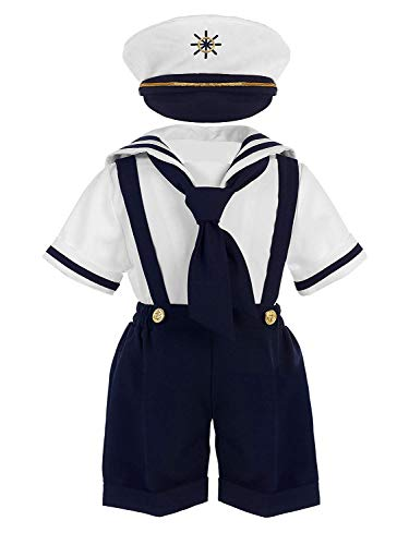 iGirlDress Baby Toddler Boys Nautical Sailor Outfit Short Suit 4 Piece Set 24mos Navy